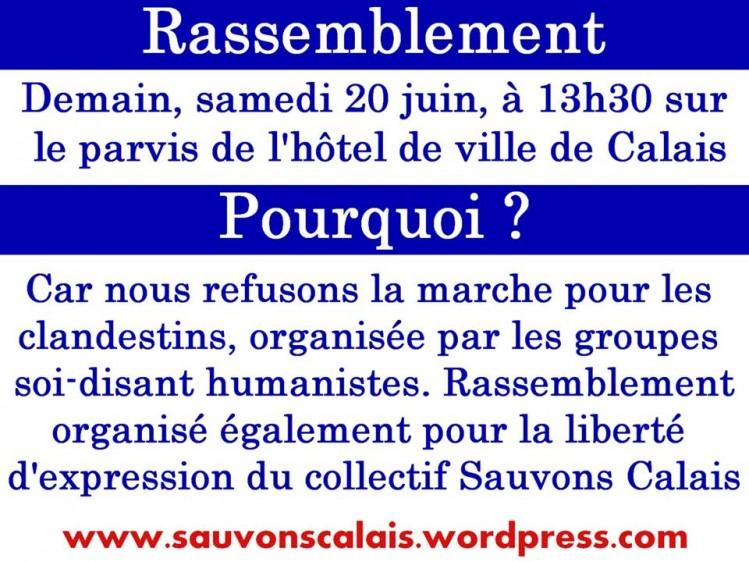 Sauvons Calais - manifestation 20 juin 2015