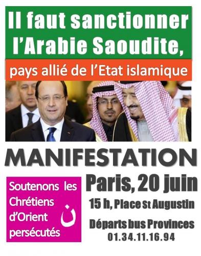 chrétiens d'orient manif 20 juin 2015 paris
