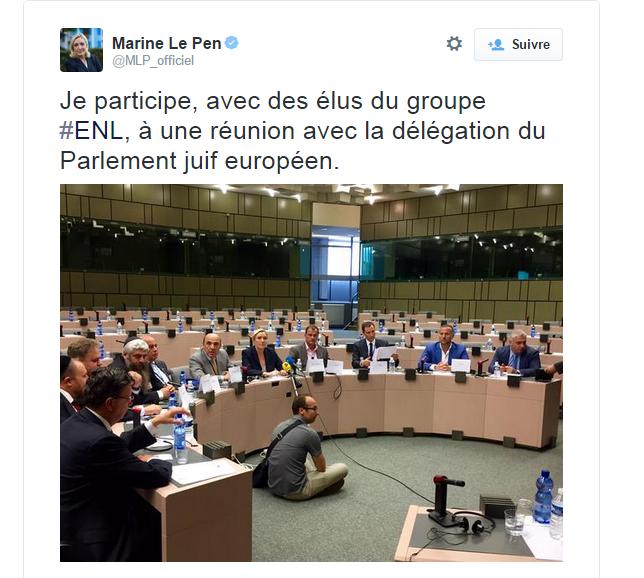 MArine Le Pen Parlement juif européen