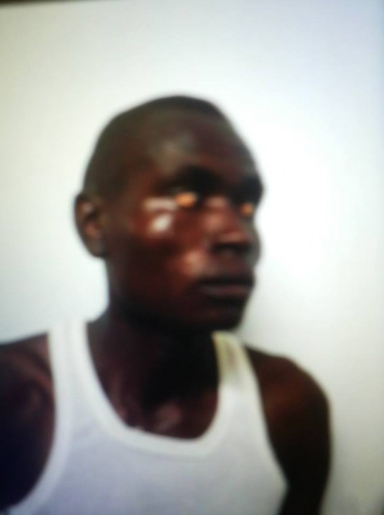 Le terroriste après son arrestation.