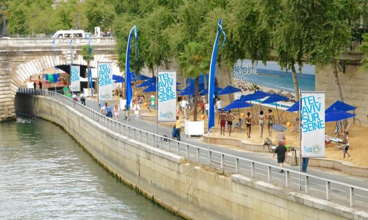 photo-montage Tel Aviv sur Seine