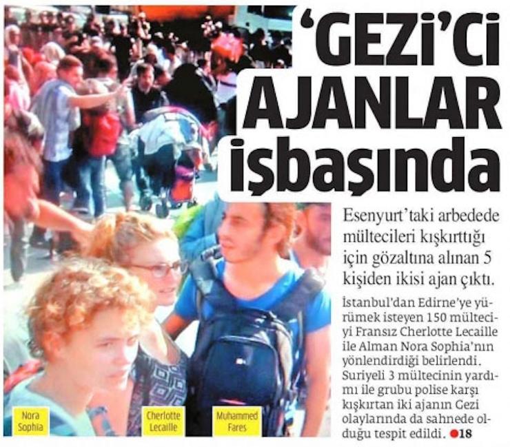 L'affaire a fait les gros titres des journaux turcs.
