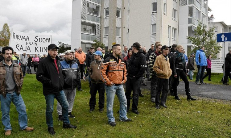 Finlande manifestation contre l'invasion 092015 (3)