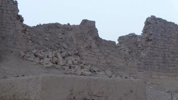 Les destructions dans le secteur du chateau de Baraqish