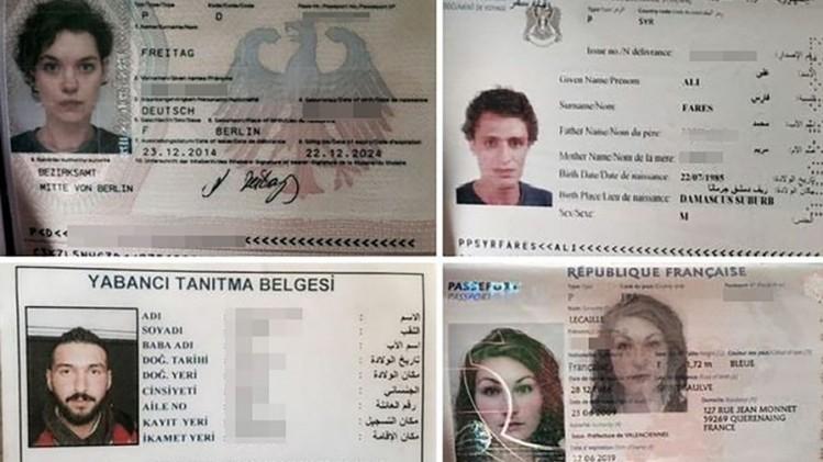 Les cartes d'identité des individus arrêtés ont été diffusées, vraisemblablement pour dissuader d'éventuels imitateurs.