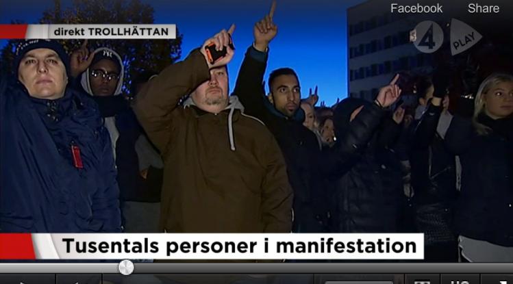 Les 'victimes' 'réfugiés' à Tröllhattan (1)