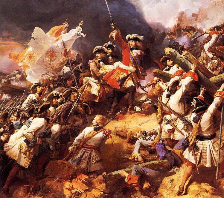 Bataille de Denain, huile sur toile de Jean Alaux 1839