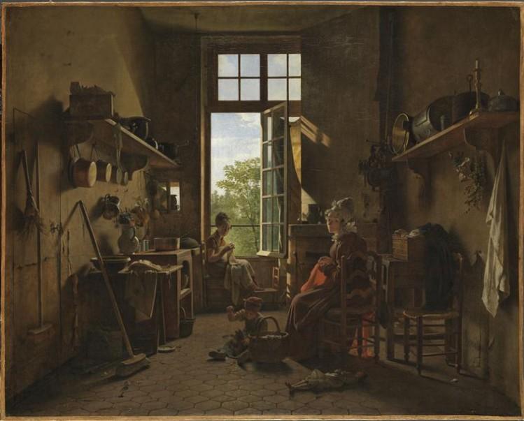 Martin Drölling, L'Intérieur d'une cuisine (1815)