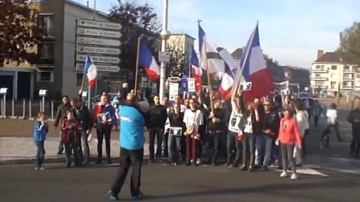 La manifestation des Calaisiens en colère le 31 octobre 2015
