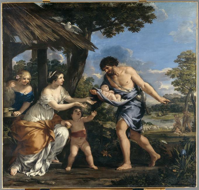 Pierre de Cortone, Romulus et Rémus recueillis par Faustulus