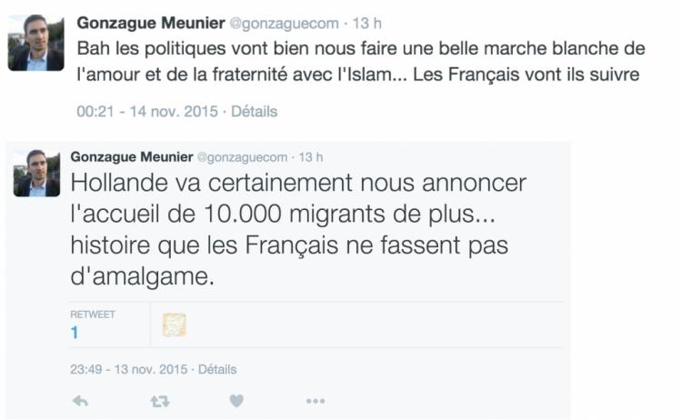 gonzague meunier contre l'invasion et l'islamisation