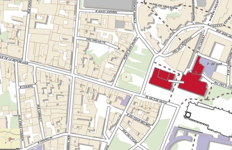 Le quartier où se déroule les événements de Saint-Denis