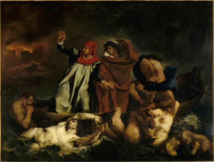 Eugène Delacroix, La Barque de Dante (1822)