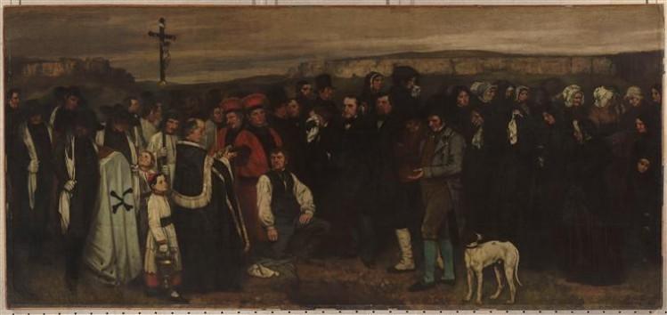 Gustave Courbet, Un enterrement à Ornans
