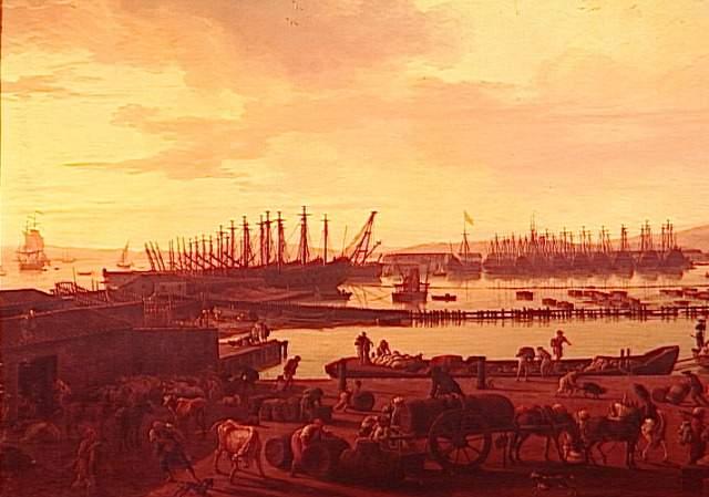 Joseph Vernet, Troisième vue de Toulon, vue du vieux port, prise du côté des magasins au vivres (1756)