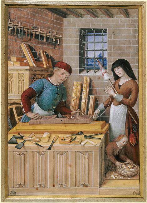 Jean Bourdichon, Les quatre états de la société. l'artisan ou le travail