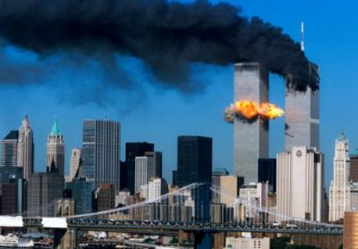 Third in a series of four.  The second plane crashes into the World Trade Center.