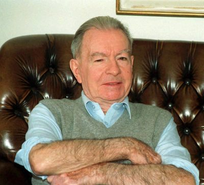 "File picture dated June 1992 of Swiss banker Francois Genoud. 81-years-old Genoud, dubbed the ""black banker"" because of his sympathies with Nazism and A rab nationalism and his friendship with notorious terrorist Carlos, has committed suicide at his home at Pully near Lausanne on Thursday, 30 May, members of hisentourage said Saturday, 01 June. Genoud was a German counter-espionage agent d uring WW II. and executor of the wills of high ranking Nazis. He also managed the funds of the Algerian National Liberation Front, fighting to free the colony from France, as an administrator of the Banquwe Commercial Arabe in the 1960s. COLORplus"