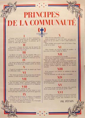Les principes de la communaute de Philippe Petain