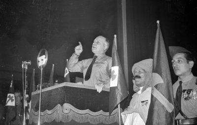 Guerre 1939-1945. Réunion de la Ligue Française d'Epuration. Discours de Pierre Costantini (fondateur du mouvement en mars 1941). Paris. 15 novembre 1942.
