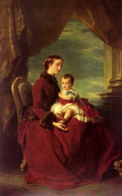 the_Empress_Eugenie_Holding_Louis_Napoleon