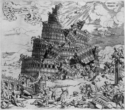 Cornelis Anthonisz La destruction de la Tour de Babel (1)