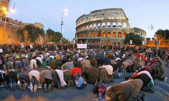 italie-manif-colons-islamiques-au-colisee-1